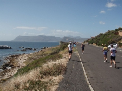 Laufstrecke an der False Bay