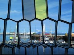 Blick von Harpa in den Hafen.JPG